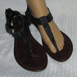 Cato's Glittery Strappy Back Thong Sandals